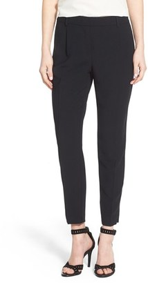 Women's Trouve High Waist Pleat Front Crop Pants $79 thestylecure.com