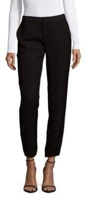 Leo & Sage Solid Slim-Fit Pants