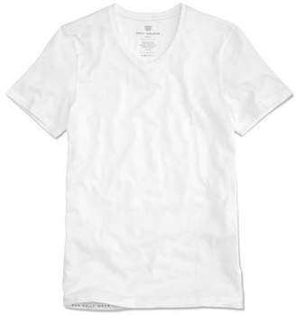 Mack Weldon Silver Vneck Undershirt in Bright White