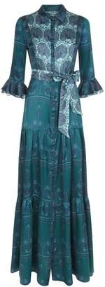 Beulah London Nalini Peacock Emerald Dress