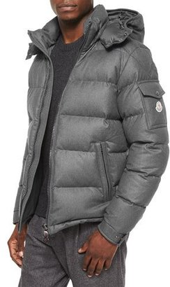 Moncler Montgenevre Quilted Down Jacket, Gray $1,465 thestylecure.com