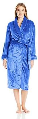 "Casual Moments Women's 48"" Shawl Collar Wrap Robe"
