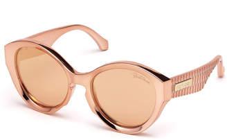 Roberto Cavalli Mirrored Round Sunglasses