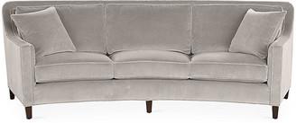 Cayman Curved Sofa - Gray Velvet - Miles Talbott