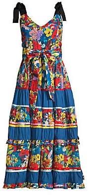 Alice + Olivia Women's Gayla Floral Tiered A-Line Midi Dress