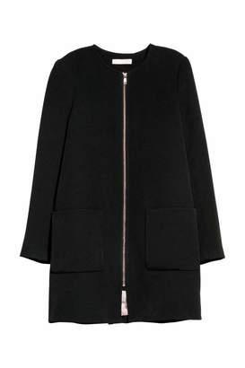 H&M Short Coat - Black - Women
