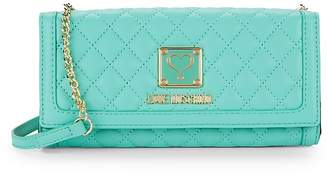 Love Moschino Women's Quilted Convertible Wallet with Chain