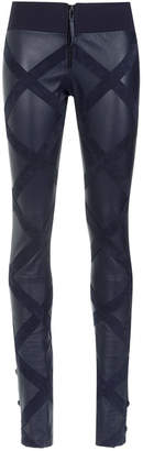 Andrea Bogosian panelled leather skinny trousers