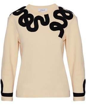 Derek Lam 10 Crosby Grosgrain-Appliquéd Cotton Top
