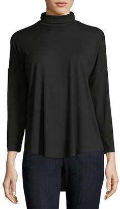 Eileen Fisher Viscose Jersey Turtleneck Tunic