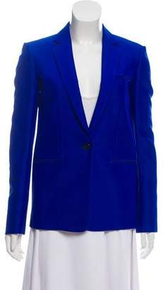 Celine Notch-Lapel Single-Button Blazer