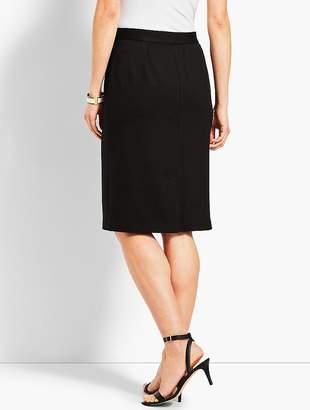 Talbots Refined Ponte Pull-On Pencil Skirt