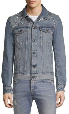 Diesel Black Gold DBG Distressed Denim Jacket