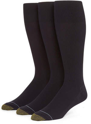 Gold Toe 3-pk. Dress Metropolitan Crew Socks-Extended Sizes
