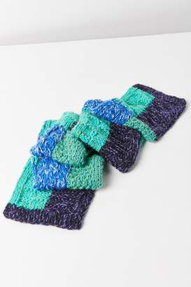Urban Outfitters Craft Knit Blue Scarf