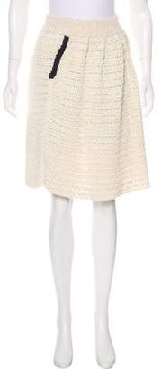 RED Valentino Knit Knee-Length Skirt