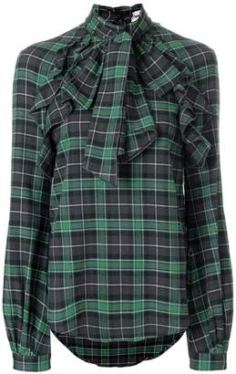 DSQUARED2 checked pussybow blouse