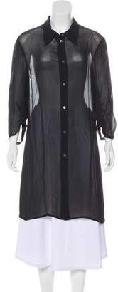 Ann Demeulemeester Sheer Shirt Dress