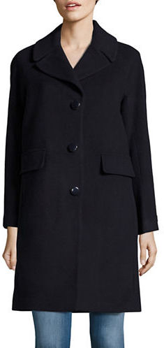 Kate Spade Kate Spade New York Wool-Blend Button-Front Coat