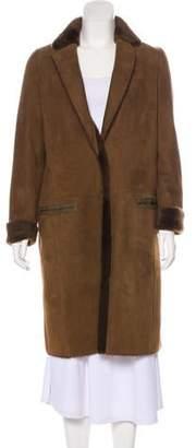 Yves Salomon Suede Knee-Length Coat w/ Tags