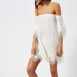 MinkPink Women's Charlotte Broderie Off the Shoulder Dress