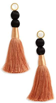Lizzie Fortunato Modern Craft Pearl Tassel Earrings
