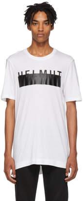 Helmut Lang White Oversized Logo T-Shirt