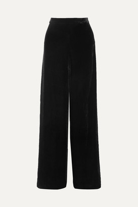CAMI NYC The Tommy Velvet Wide-leg Pants - Black