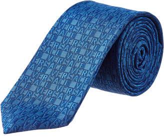 Versace Blue Silk Tie