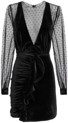 Patbo Velvet Tulle Mini Dress