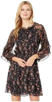 CeCe Long Sleeve Ruffled Bohemian Garden Dress