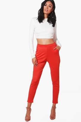 boohoo Skinny Stretch Scuba Trousers