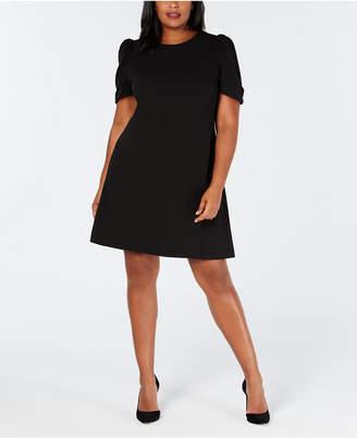 Calvin Klein Plus Size Puff-Sleeve Shift Dress