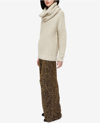 French Connection Aida Sequined Wide-Leg Pants