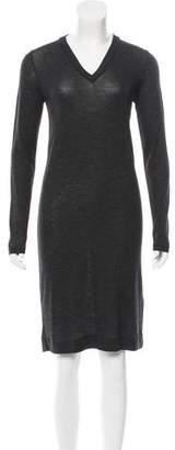 Brunello Cucinelli Monili-Trimmed Wool Dress w/ Tags