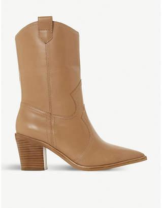 Dune Priotry leather cowboy boots
