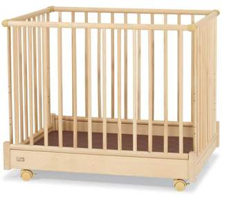Camilla And Marc Herlag H1055-2202 Playpen Easily Dismantled Highly Adjustable Base with Dark Brown Padding 89x 67 cm