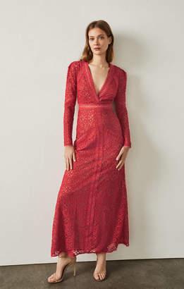 BCBGMAXAZRIA Mosaic Lace Maxi Dress