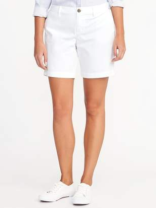 Old Navy Mid-Rise Everyday White Shorts For Women - 7 inch inseam