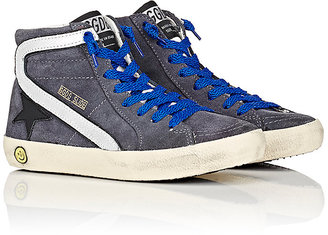 Golden Goose Slide Suede High-Top Sneakers $280 thestylecure.com