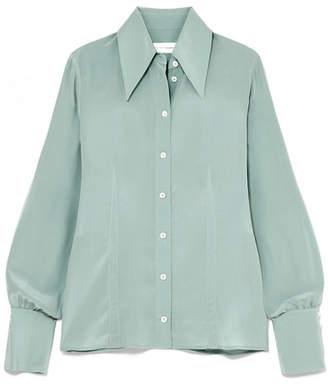 Victoria Beckham Silk Crepe De Chine Shirt - Jade