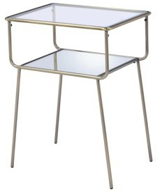 Acme Rhodie End Table in Antique Brass