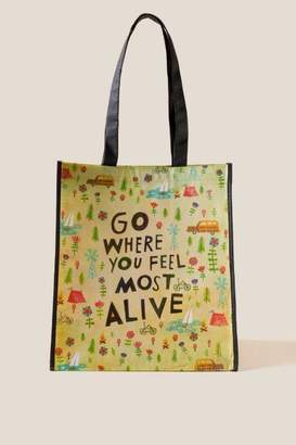Natural Life Go Where You Feel Alive Recycled Tote - Multi