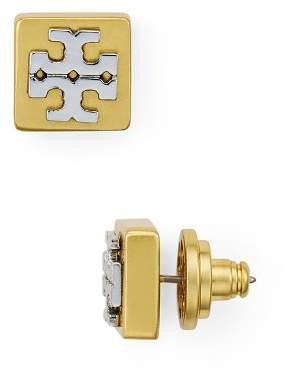 Tory Burch Logo T Block Stud Earrings