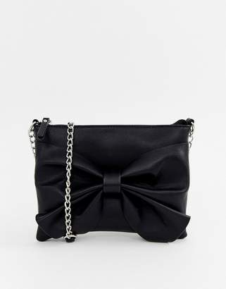 Pieces More bow cross body bag