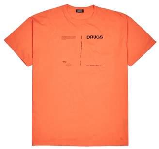 Raf Simons Drugs Neon Orange Cotton T-shirt