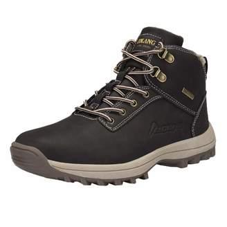 Fullfun Trekking Shoes Men's Hiking Shoes Anti-Skid Mountain Climbing Boots Outdoor Athletic Breathable Men Waterproof (8, )