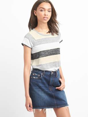Gap Softspun stripe cap sleeve tee