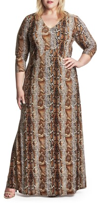 Coldesina Cairo Animal Print Maxi Dress