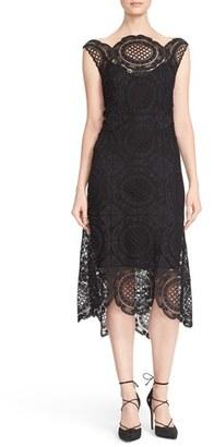 Tracy Reese Crochet Lace Scalloped Hem Midi Dress $398 thestylecure.com